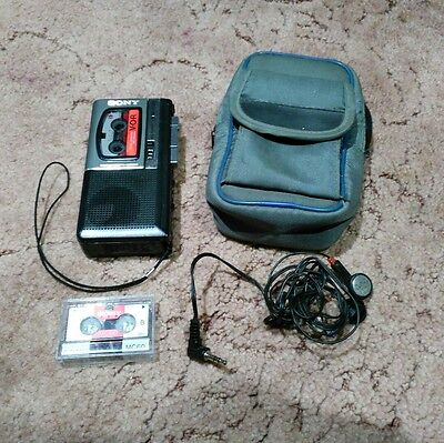 Sony M-750V Microcassette Recorder / Dictation Machine - Tested and Working