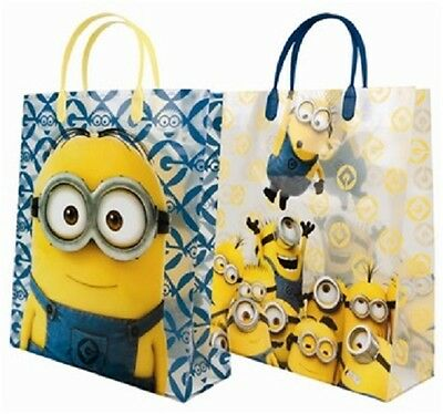 2 x Large Minion Gift Bag Perfect Gift for Birthday + Christams + All Occasions