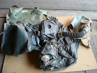 Russian USSR Soviet Army Military Isolating Gas Mask IP-5 Vintage