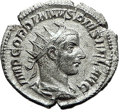 GORDIAN III 240AD Rome Authentic Genuine Ancient Silver Roman Coin SOL i59133
