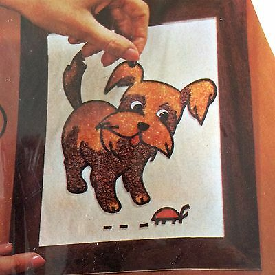 Mosette Boutif Kit Sealed Craft Master Crushed Gravel Mosaic Plaque Nosey Puppy