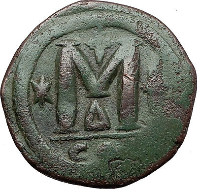 JUSTINIAN I the GREAT 527AD Follis Large Authentic Ancient Byzantine Coin i58364