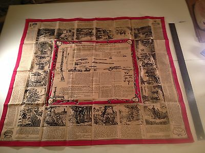French Label Rifle Instruction Scarf Repro