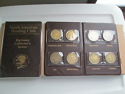 Nahc North American Hunting Club Big Game Collectors Series Holder + 8 Coins