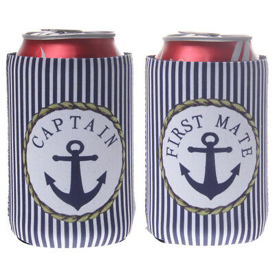 2pcs Sailing Can Beer Bottle Drink Cooler Neoprene Coozie