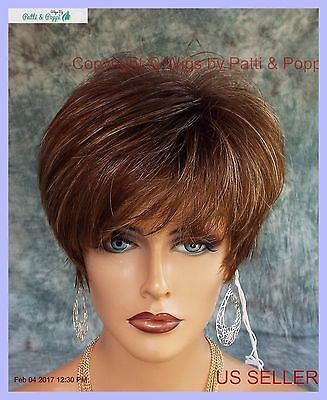 """ivy"" By Noriko Classic Cap Wig *iced Mocha R* Cute Chic Look Usa Seller"