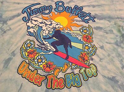 Jimmy Buffet 2010 Under The Big Top Blue Tie Dye T-Shirt XL Extra Large