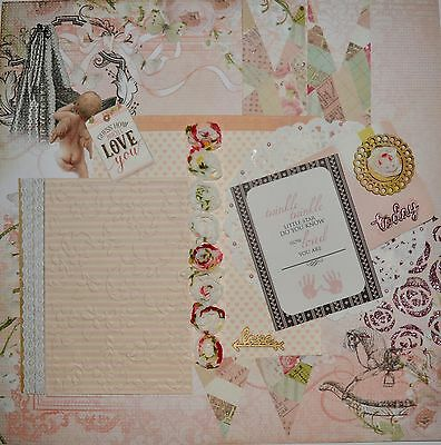 Handmade Scrapbook page - Guess how Much I Love You