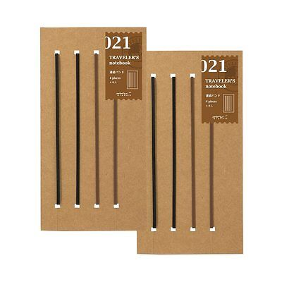 Midori Traveler's Notebook Regular Size Refill Connect Bands 021 Set of Two