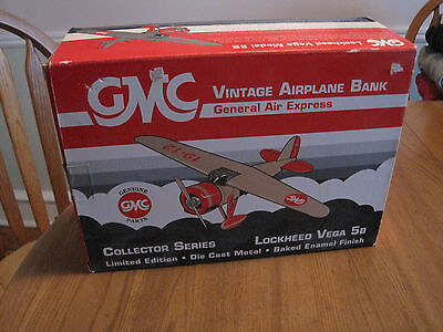 Gmc Vintage Airplane Bank - Collector Series - Limited Edition - Lockheed Vega