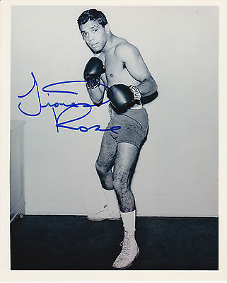 World Bantamweight champion Lionel Rose HAND signed photo WITH PROOF + MORE