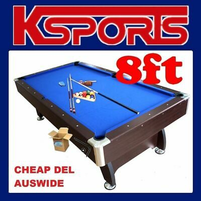 Pub Size Pool Table 8Ft Snooker Billiard Table With Free Accessories Kit - Black