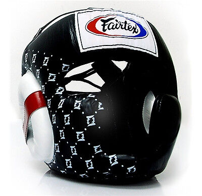 Fairtex Sparring Head Gear BLACK - Boxing Muay Thai Kick HG10 BEWARE OF FAKES