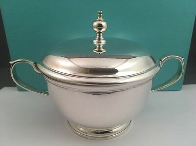 Vintage Tiffany & Co Makers 925 Sterling Silver Lidded Sugar Bowl Rare