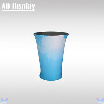 Exhibition Booth Advertising Fabric Table Display With Full Color Printed Banner