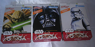 Star Wars 2016 KELLOGGS empty cereal boxes full set with 2 characters per box