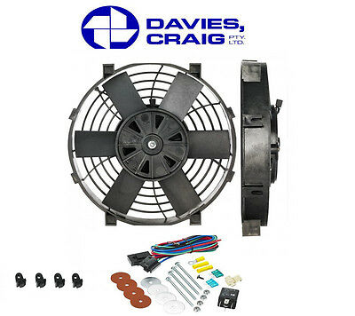 Davies Craig 14 Inch Slim line 12V Electrical Thermo Fan w/ Mounting Kit