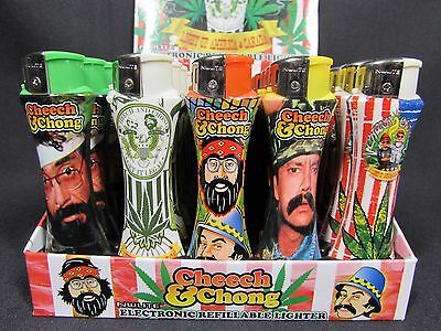 Lot Of 5X Cheech & Chong Nulite Electronic Refillable Lighter New Free S & H