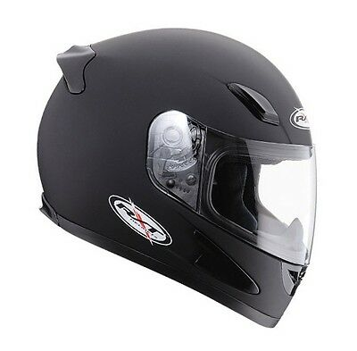 RXT Sprint Full Face Motorcycle Motorbike Road Street Helmet - Matt Matte Black