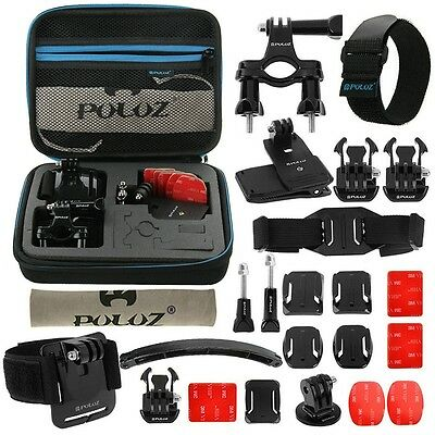 PULUZ 24 in 1 Bike Mount Accessories Combo Kit for GoPro HERO5/4 Session 3+ 2 1