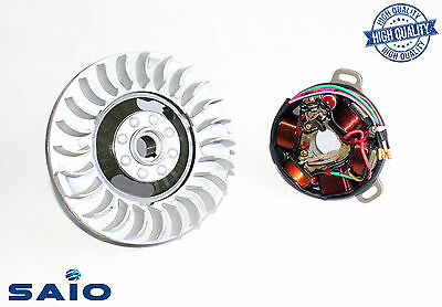 Saio 6V Flywheel + Stator Plate Kit Small Cone GP For Lambretta  - High Quality
