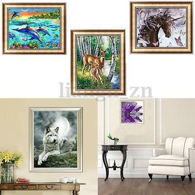 5D DIY Diamond Painting Embroidery Animals Cross Stitch Craft Home Wall Decor AU
