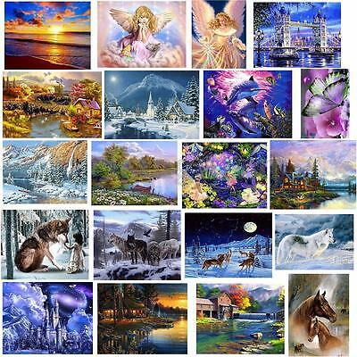5D DIY Diamond Painting Scenery Animals Embroidery Cross Stitch Home Decor AU