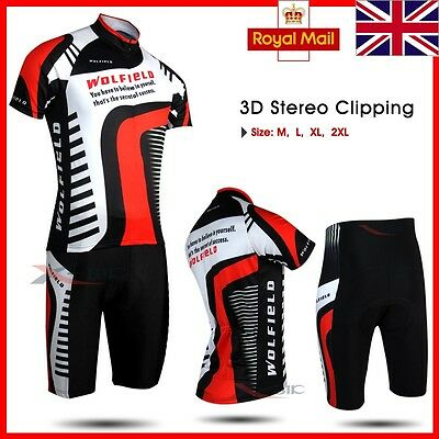 Bike Bicycle Cycle Clothes Short Sleeve Shirt Jersey Shorts Pants 3D Padded Suit