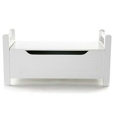 Large White Storage Chest Sturdy Durable Wooden Ottoman Toy Blanket Bench Home