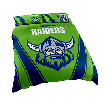 Canberra Raiders NRL Quilt Doona Cover Pillow Case Set - Double Queen King