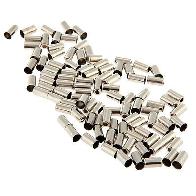 100pcs Metal Brake Cable Housing Ferrule End Caps Bike Bicycle Part Silver