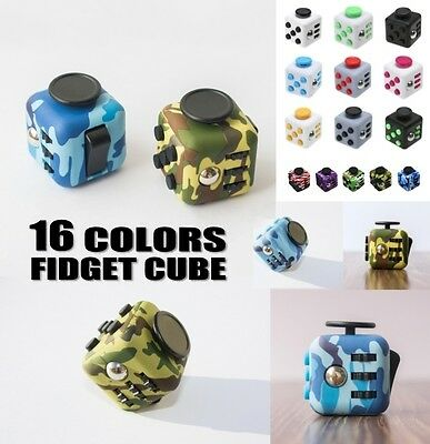 13 Colors Magic Fidget Cube Anti-anxiety Adults Stress Relief Kids Toy Xmas Gift