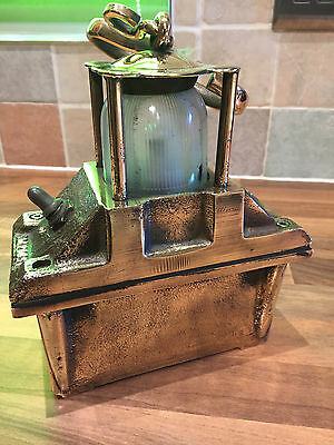 Vintage Ships Bronze/Brass Engine Inspection Lamp Maritime Nautical Mariine Boat