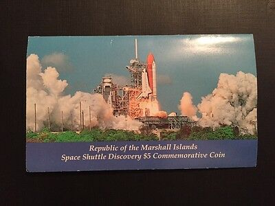 Space Shuttle Discovery Marshall Islands $5 Commemorative Coin