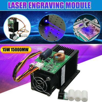 High Power 15W 15000mw Blue Laser Head Diode DIY Engraving Module For Engraver