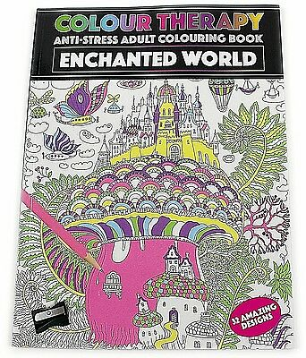 Enchanted World Colour Therapy Anti Stress Adult Colouring Book Calming Relax