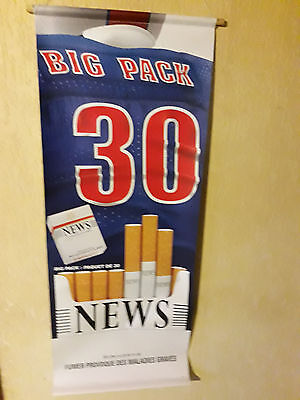 "Plv Tabac ""news Big Pack 30"" Sur Toile Plastifiee"