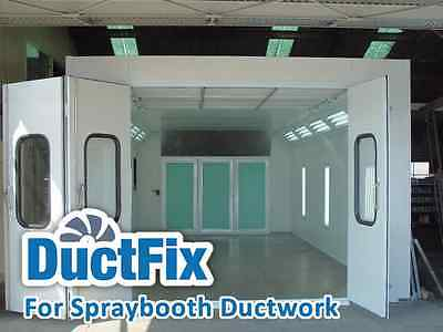 Used Car Commercial Spray Booth Ductwork Ducting UK Delivery Direct Manufacturer