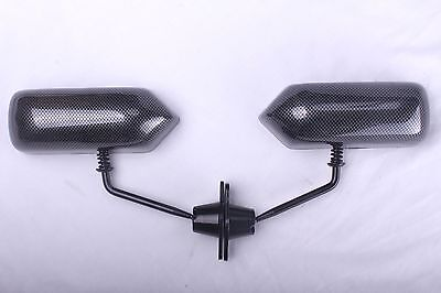 Mirrors Side Cycle Wing Kit Rear Car Racing F1 Turbo Race Carbon Fibre Style
