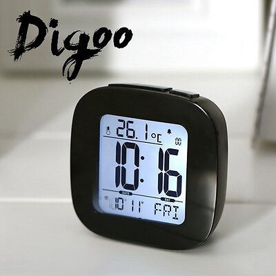Digoo Digital Snooze LCD Alarm Clock Backlight Temperature Thermometer TIME DATE
