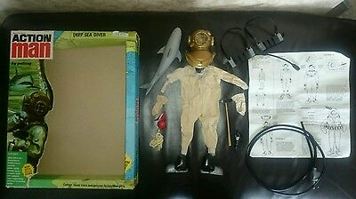 ORIGINAL Vintage 1960/70s Action Man Deep Sea Diver with Very Rare 2nd issue Box