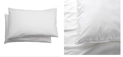 2x IKEA LEN Pillowcase for Cot Bed 100% Cotton Pillow Case Baby Children