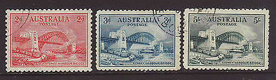 1932 Harbour Bridge Set to 5Shilling very fine used.