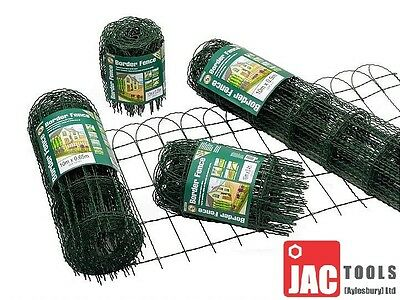 10M Rolls Green Border Fence Various Heights Garden Fencing Lawn Decoration