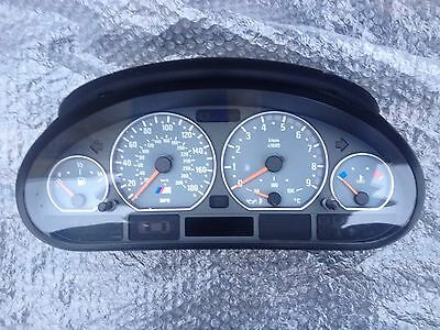 BMW E46 M3 Instrument Cluster Speedometer Manual Transmission  62117832323