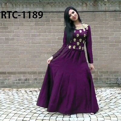 Indian Salwar Kameez Bollywood Anarkali Designer Pakistani Suit Shalwar Dress US