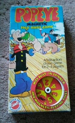 Popeye Magnetic Fold Away Game - 1980 - Complete