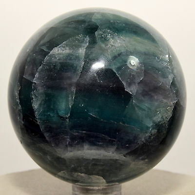 """2.2"""" Rainbow Purple / Green Fluorite Sphere Natural Crystal Ball Mineral - China"""