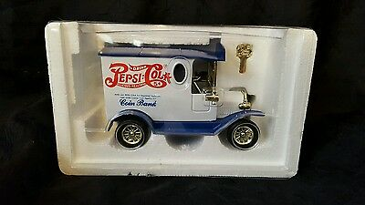 "Pepsi - Cola Company Golden Classic Coin Bank Truck ""die Cast Metal"" Nib Mint"