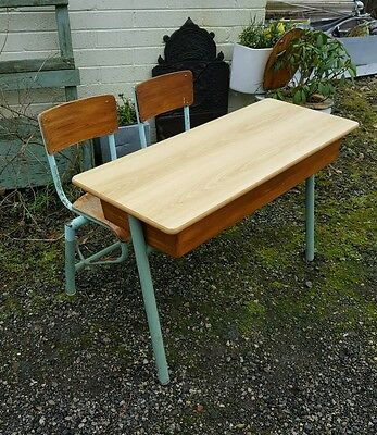 vintage french double school desk two available